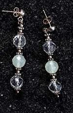 Hegyi kristály - Jade fülbevaló
